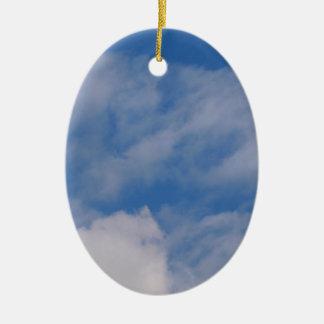 Cloudy Sky Ceramic Ornament