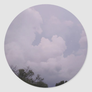 Cloudy Sky Classic Round Sticker