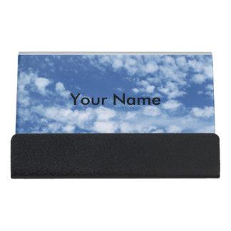 Cloudy Sky Desk Business Card Holder