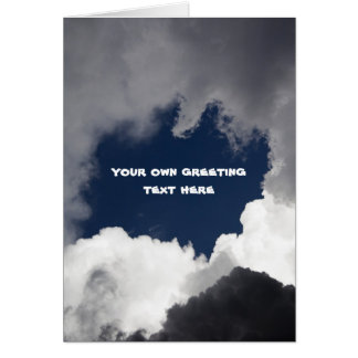 Cloudy sky greeting cards