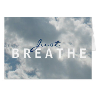 Cloudy Sky Just Breathe Notecard Stationery Note Card