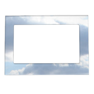 Cloudy Sky Magnetic Picture Frame   Blue White