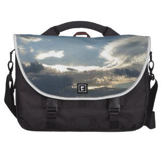 Cloudy Sky over the Detroit River, Windsor Laptop Messenger Bag