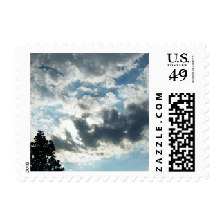 Cloudy Sky Postage Stamps