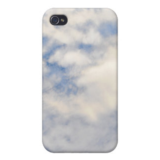 Cloudy sky tech texture cover for iPhone 4