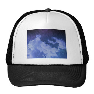 Cloudy Sky with Stars Trucker Hat