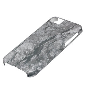 Cloudy Slate Black Streaked marble stone finish Case For iPhone 5C