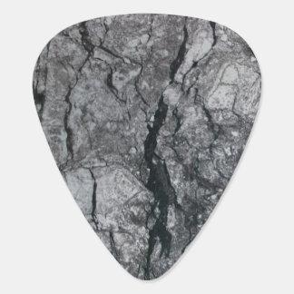 Cloudy Slate Black Streaked marble stone finish Guitar Pick
