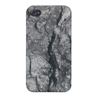 Cloudy Slate Black Streaked marble stone finish iPhone 4 Cover