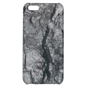 Cloudy Slate Black Streaked marble stone finish iPhone 5C Cover