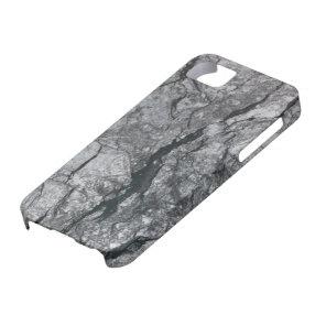 Cloudy Slate Black Streaked marble stone finish iPhone SE/5/5s Case