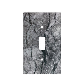 Cloudy Slate Black Streaked marble stone finish Light Switch Cover