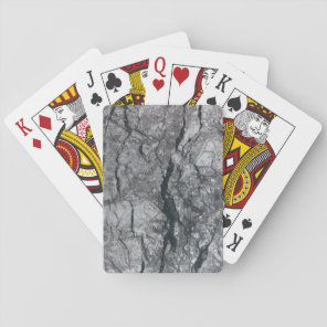 Cloudy Slate Black Streaked marble stone finish Playing Cards