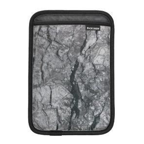 Cloudy Slate Black Streaked marble stone finish Sleeve For iPad Mini