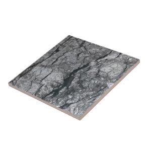 Cloudy Slate Black Streaked marble stone finish Tile