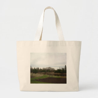 Cloudy Spring dawn after rain Tote Bags