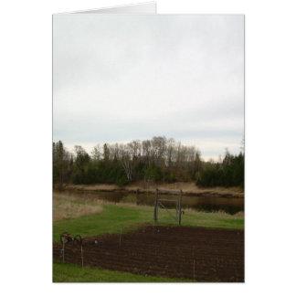 Cloudy Spring dawn after rain Card