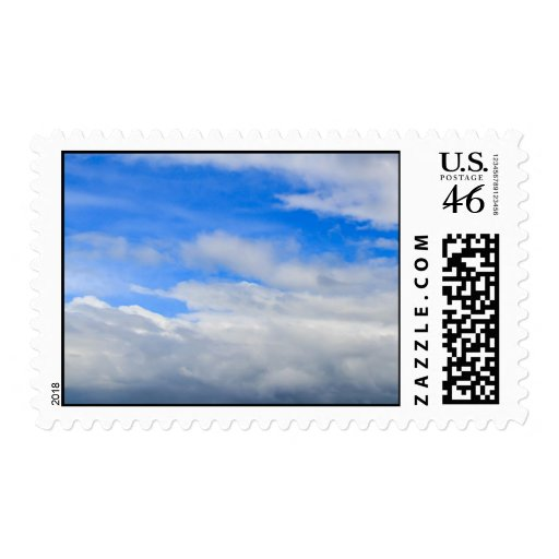 Cloudy Summer Sky Postage Stamp