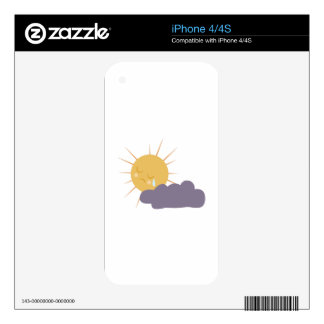 Cloudy Sun Decals For The iPhone 4S