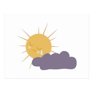 Cloudy Sun Postcard