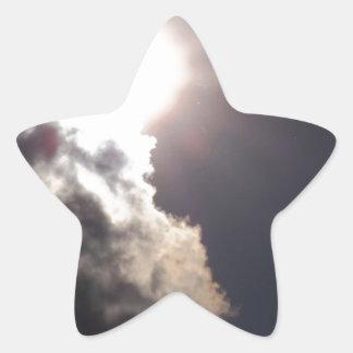 Cloudy Sunny Day Star Sticker