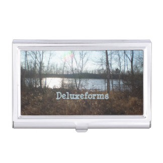 Cloudy Sunset Business Card Case