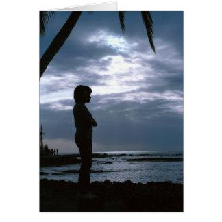 Cloudy sunset in Hawaii Card