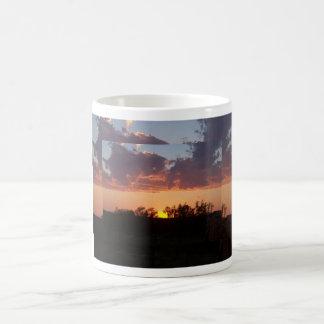 cloudy sunset mugs