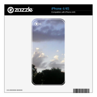 Cloudy Sunset Skins For iPhone 4S