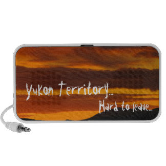 Cloudy Sunset; Yukon Territory Souvenir Mini Speakers