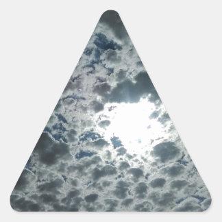 Cloudy Triangle Sticker