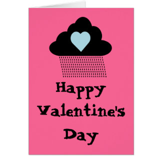 Cloudy Valentine's Day Card