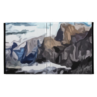 Cloudy Valley painting iPad Folio Cover