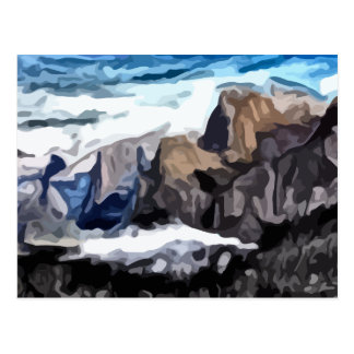 Cloudy Valley painting Postcard