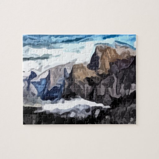 Cloudy Valley painting Puzzles