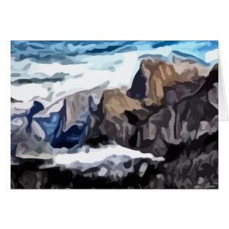 Cloudy Valley painting Stationery Note Card