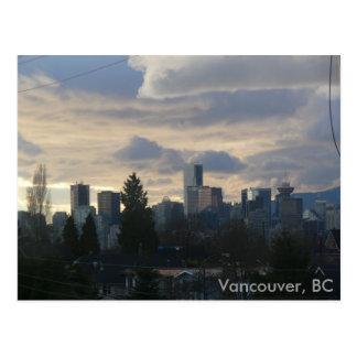 Cloudy Vancouver, BC Postcard