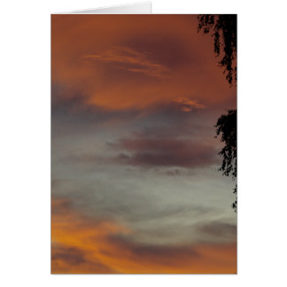 Cloudy waves greeting card