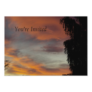 Cloudy waves 5x7 paper invitation card