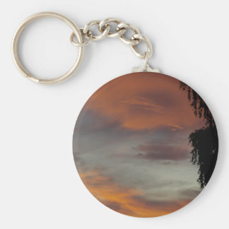 Cloudy waves keychain