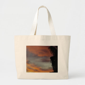 Cloudy waves large tote bag