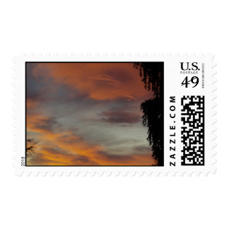 Cloudy waves postage stamp