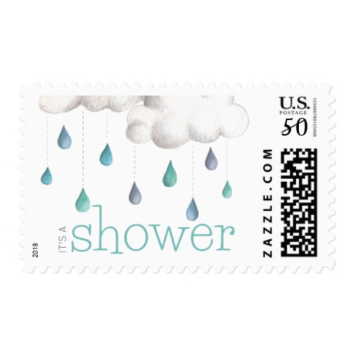 Cloudy with a chance of Sprinkles Baby Shower Postage