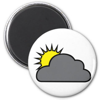 Cloudy with Sunny Spells Magnet