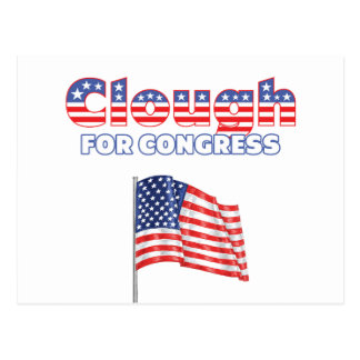 Clough for Congress Patriotic American Flag Postcard