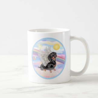 Clous - Dachshund Angel (black/tan) Coffee Mug