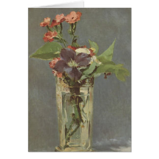 Clove and clematis in a crystal vase - Manet Greeting Card