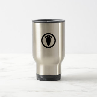 Clove in circle travel mug