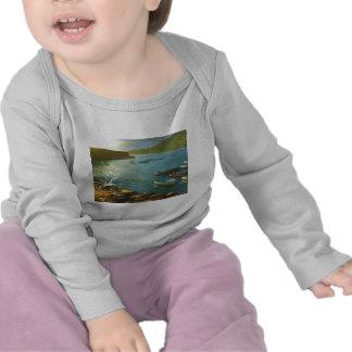 Clovelly - mirando hacia fuera camiseta