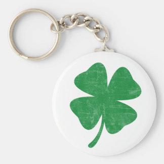 Clover Basic Round Button Keychain